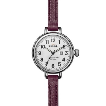 Birdy 3HD 34mm, Ruby Leather Strap