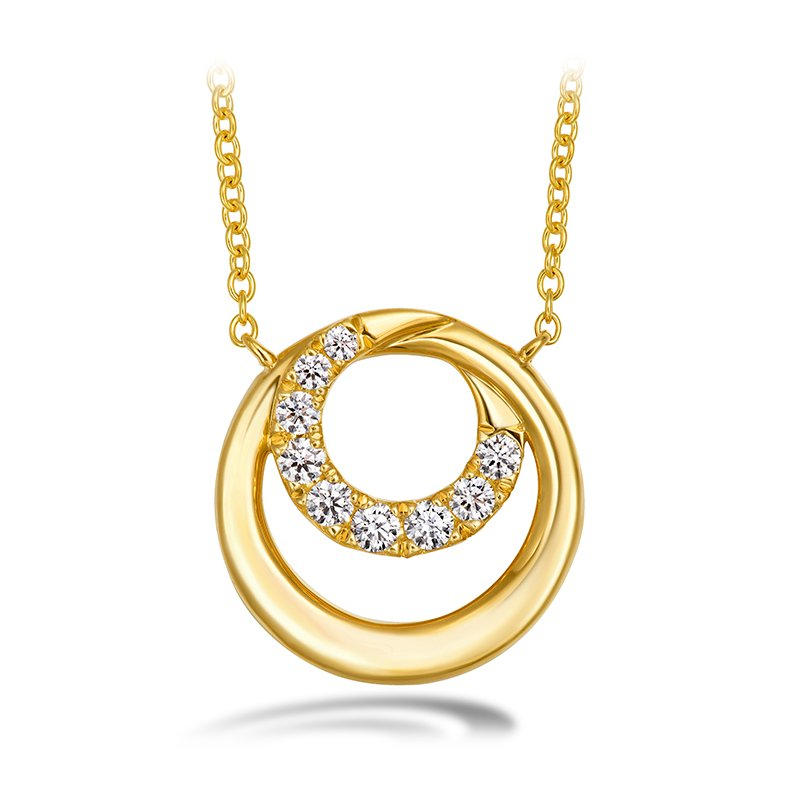 Hearts on Fire 0.19 ctw. Optima Circle Pendant