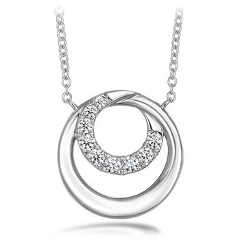 0.19 ctw. Optima Circle Pendant