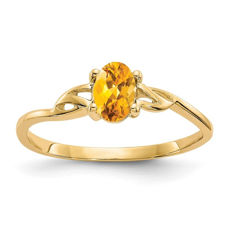 Quality Gold 14k Citrine Birthstone Ring