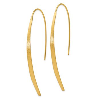 Leslie's Sterling Silver Gold-plated Polished and Brushed Earrings