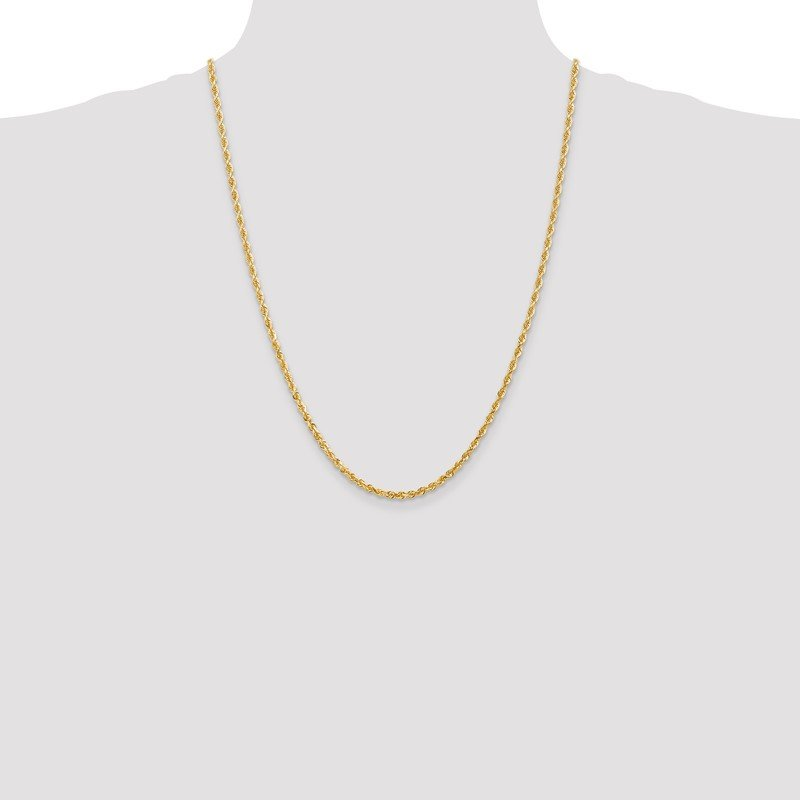 Quality Gold 14k 3.0mm D/C Quadruple Rope Chain