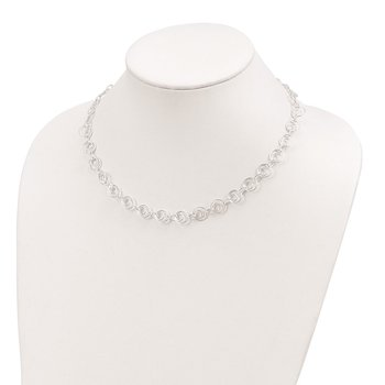 Sterling Silver Polished Link Necklace