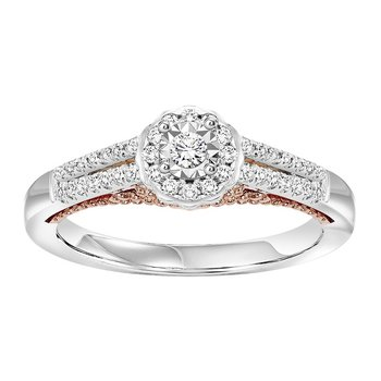 14K Diamond Engagement Ring 1/3 ctw Complete