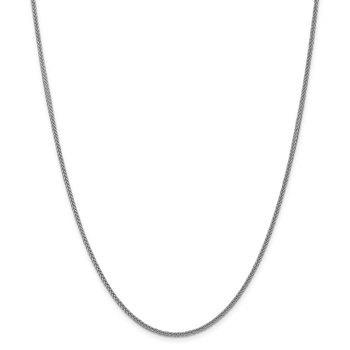 14k WG 2mm Semi-solid 3-Wire Wheat Chain
