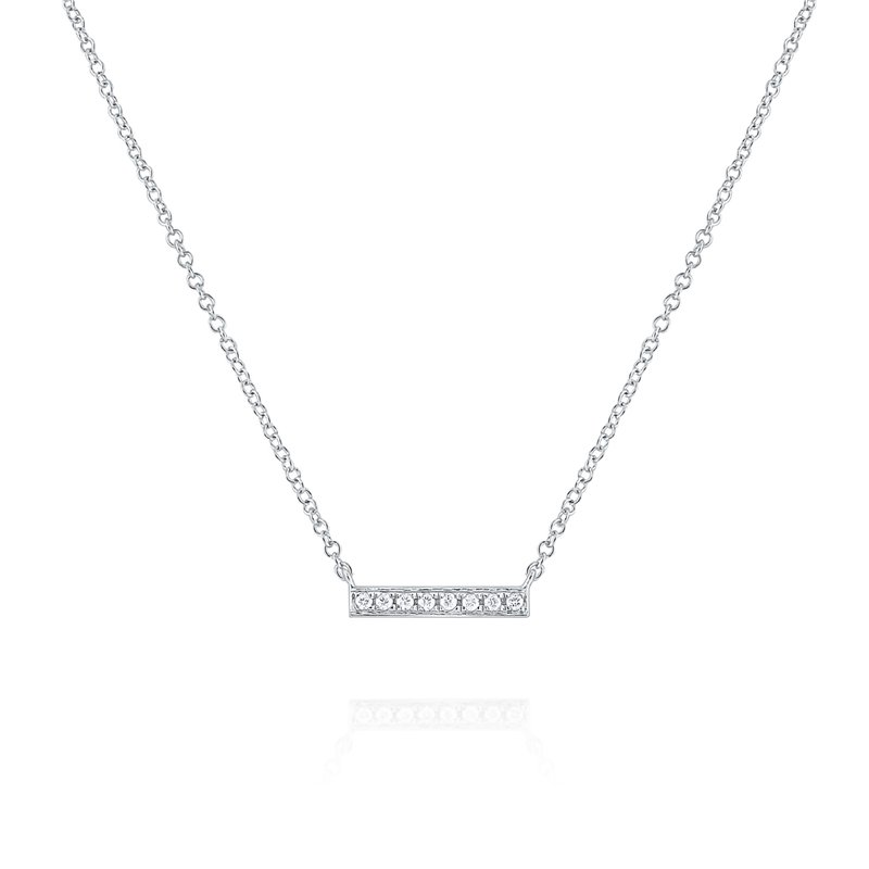 MAZZARESE Fashion Diamond Bar Necklace in 14k Gold