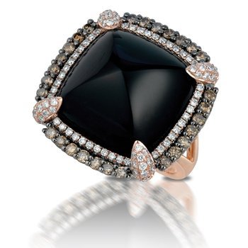 Gatsby Black Onyx Ring