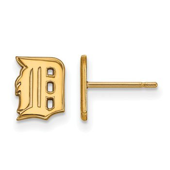 Gold-Plated Sterling Silver Detroit Tigers MLB Earrings