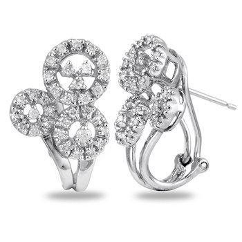 14K WG Diamond Fashion Ear-rings