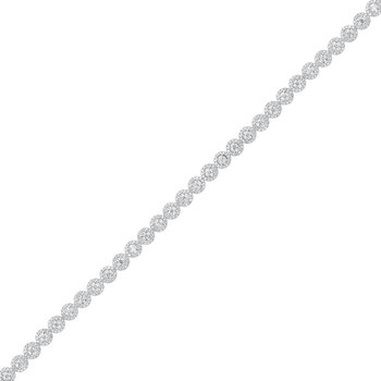 Tru Reflections Prong Diamond Bracelet in 14K White Gold (5 ct. tw.)