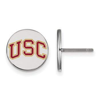 Sterling Silver University of Southern California NCAA Earrings