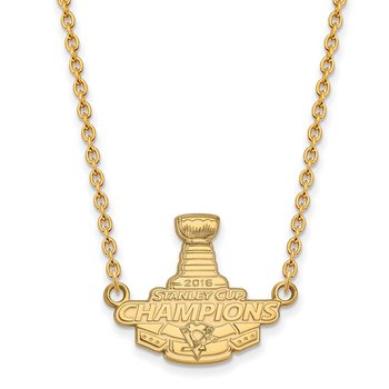 Gold Stanley Cup NHL Necklace