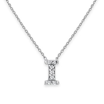 Diamond Bitty Block Initial I Necklace