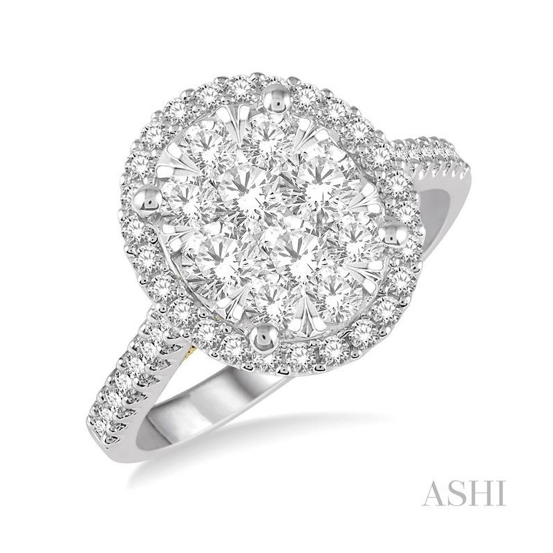 Gemstone Collection oval shape lovebright essential diamond ring