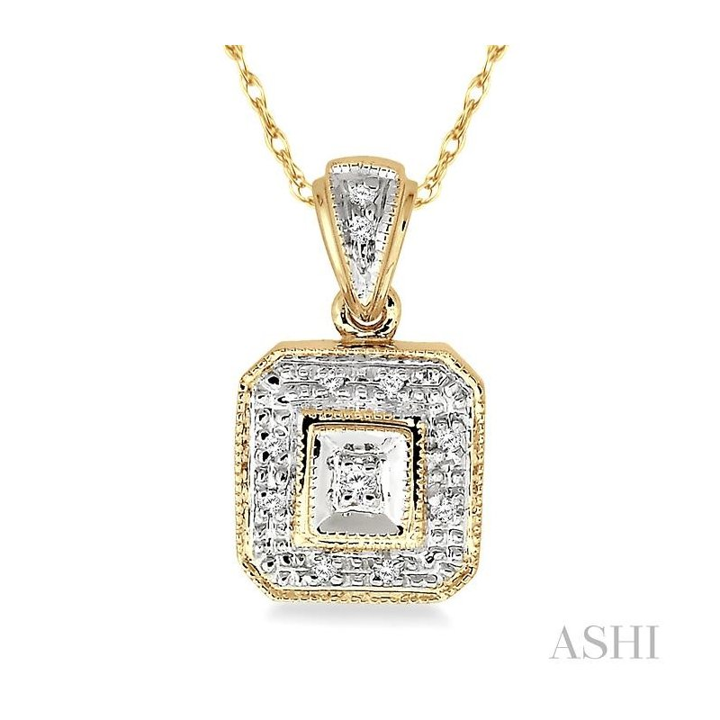 ASHI diamond pendant