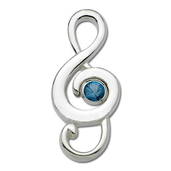Sterling Silver G-Clef Note December