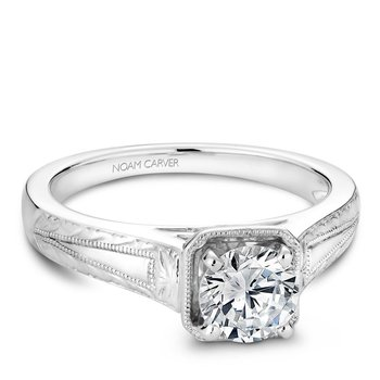 Noam Carver Vintage Engagement Ring B078-01A