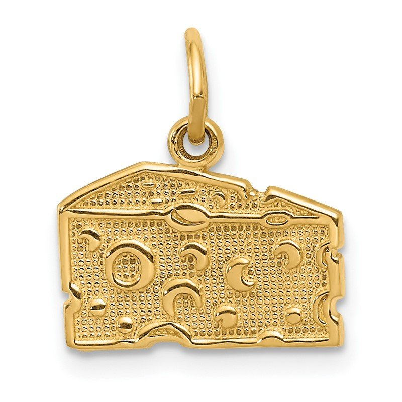 Quality Gold 14k Swiss Cheese Charm