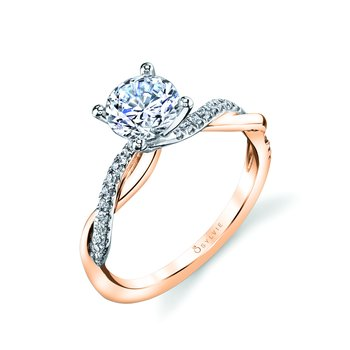 High Polish Spiral Engagement Ring - Yasmine