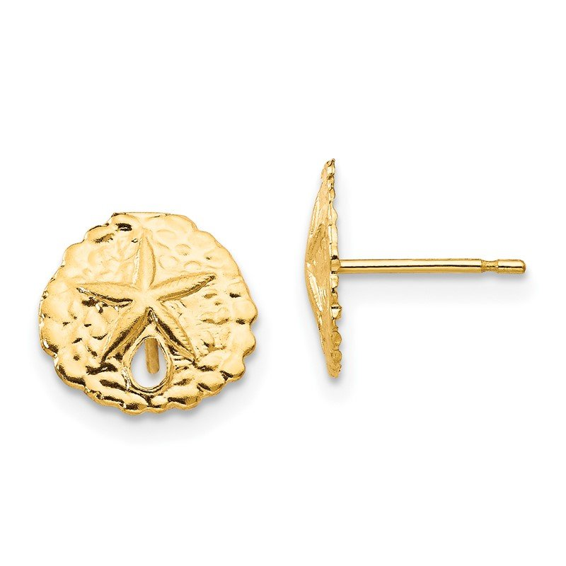 Quality Gold 14k Madi K Sand Dollar Post Earrings