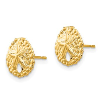 14k Madi K Sand Dollar Post Earrings