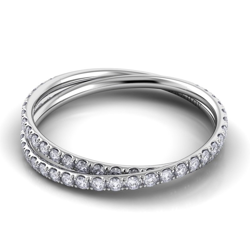 Danhov Eleganza Braided Diamond Band