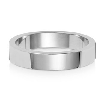 18Ct White Gold 4mm Flat Flat Wedding Ring