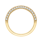 Carizza Round Diamond Half-Eternity Wedding Band In 14K Yellow Gold