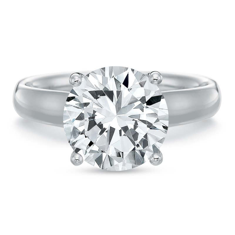 Precision Set 18K white gold Solitaire for 2.00 ct Round center