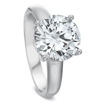 18K white gold Solitaire for 2.00 ct Round center