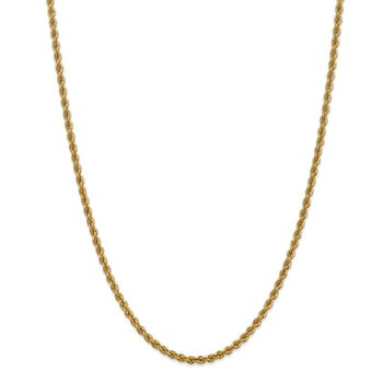 Leslie's 14K 3mm Solid Regular Rope Chain