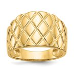 Quality Gold 14K Marquise Pattern Dome Ring