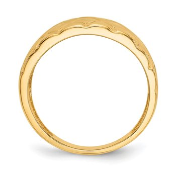 14K Marquise Pattern Dome Ring
