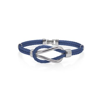 Blueberry Cable Square Knot Bracelet