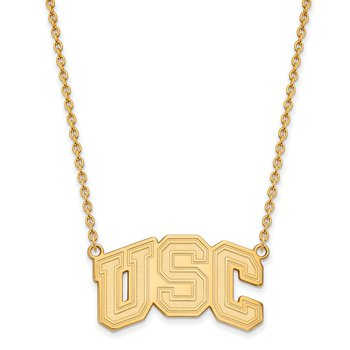 Gold-Plated Sterling Silver University of Southern California NCAA Necklace