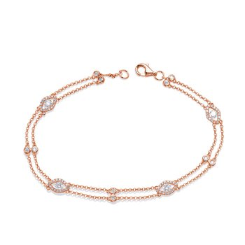 Rose Gold Diamond By The Yard Bracelet