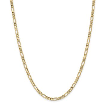 14k 4.2mm Semi-Solid Figaro Chain