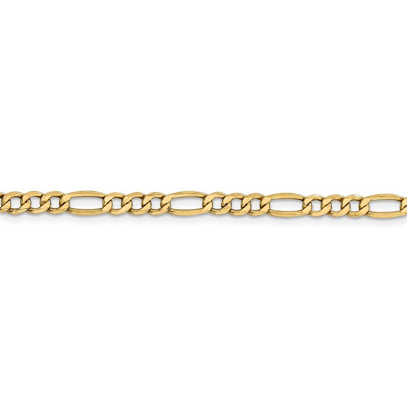 Quality Gold 14k 4.2mm Semi-Solid Figaro Chain