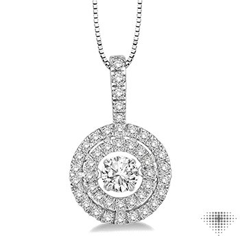 Circle Shape Emotion Diamond Pendant