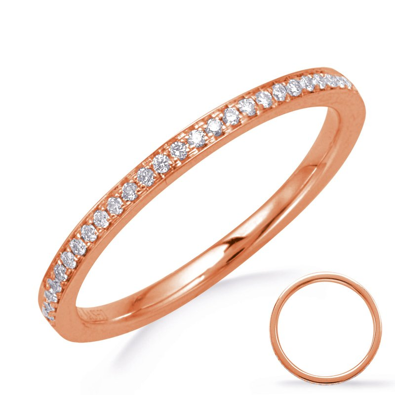 S. Kashi  & Sons Rose Gold Diamond Eternity Ring