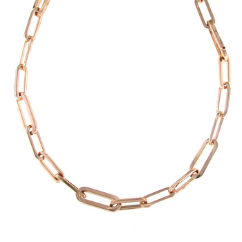18Kt Rose Gold Long Link Necklace