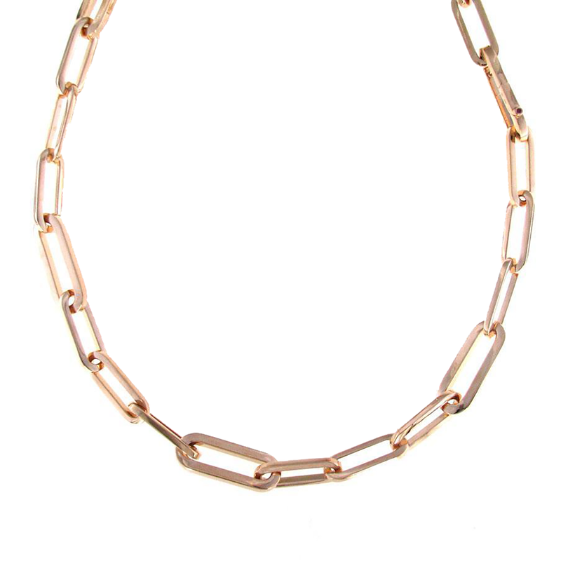 Roberto Coin 18KT ROSE GOLD LONG LINK NECKLACE