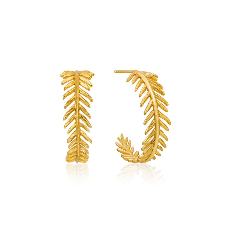 Ania Haie Palm Hoop Earrings