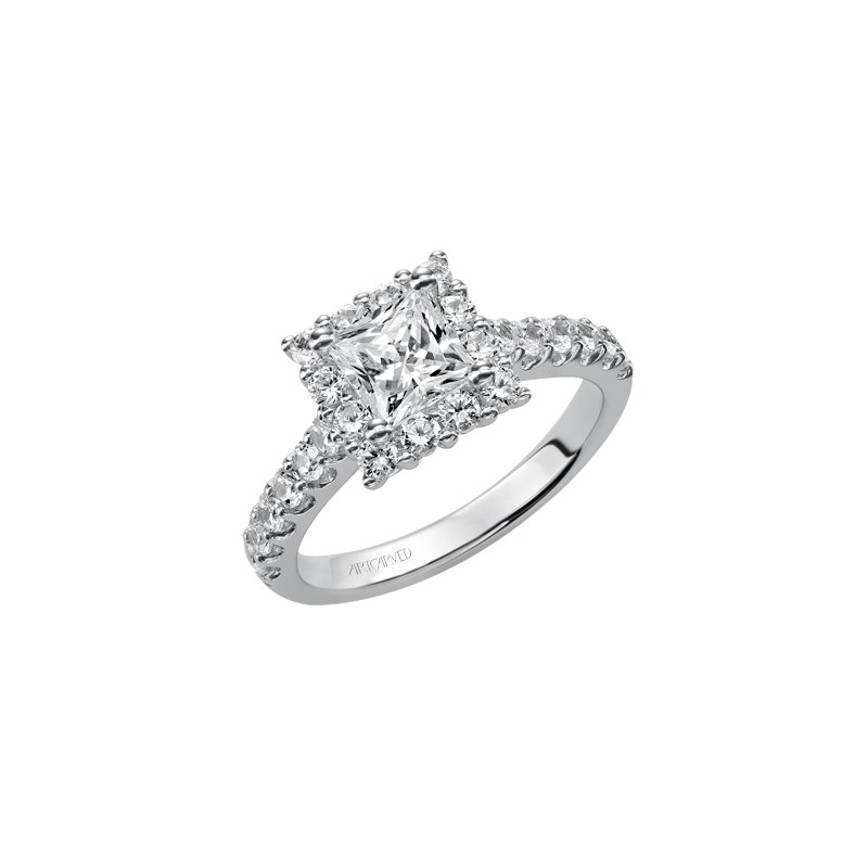 ArtCarved Halo Diamond Engagement Semi