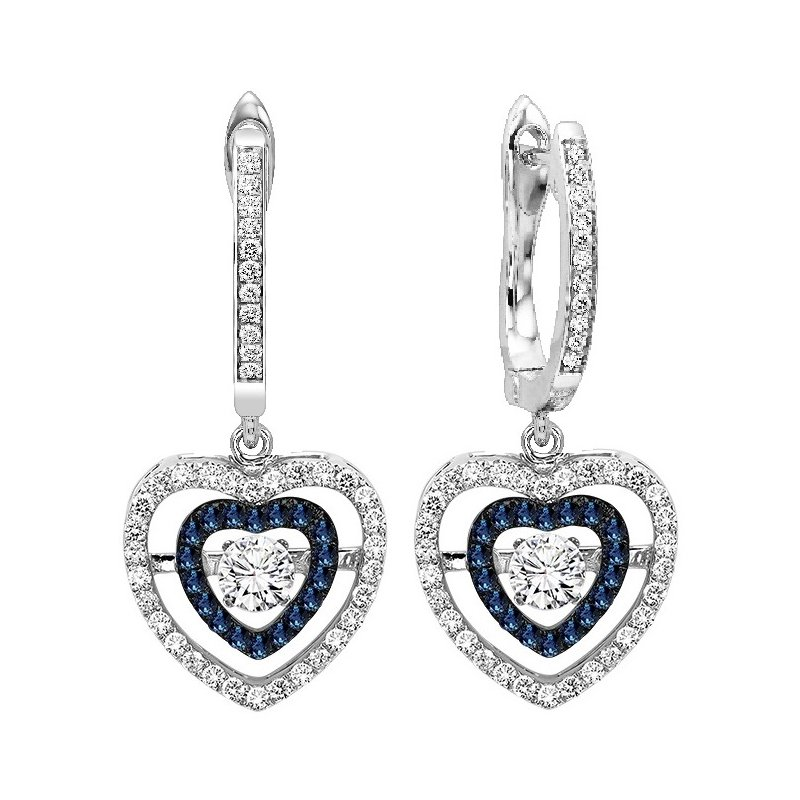 Rhythm of Love 14K Blue & White Diamond Rhythm Of Love Earrings 1/2 ctw