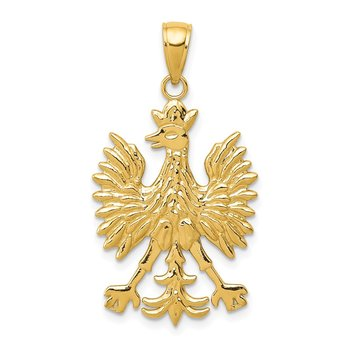 14k Phoenix Mythological Bird Charm