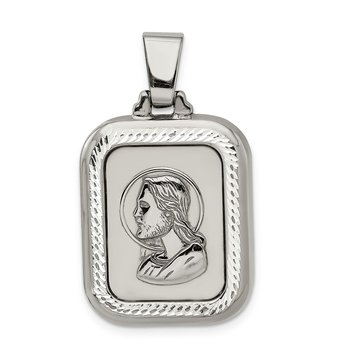 Sterling Silver Polished Ruthenium-plated The Lords Prayer Pendant