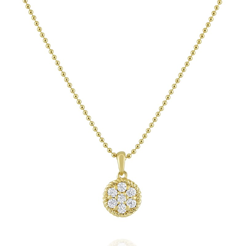 KC Designs 14K Diamond Cable Circle Necklace