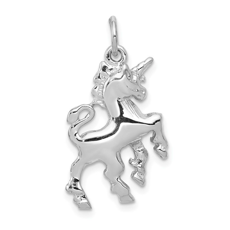 Quality Gold 14k White Gold Unicorn Charm