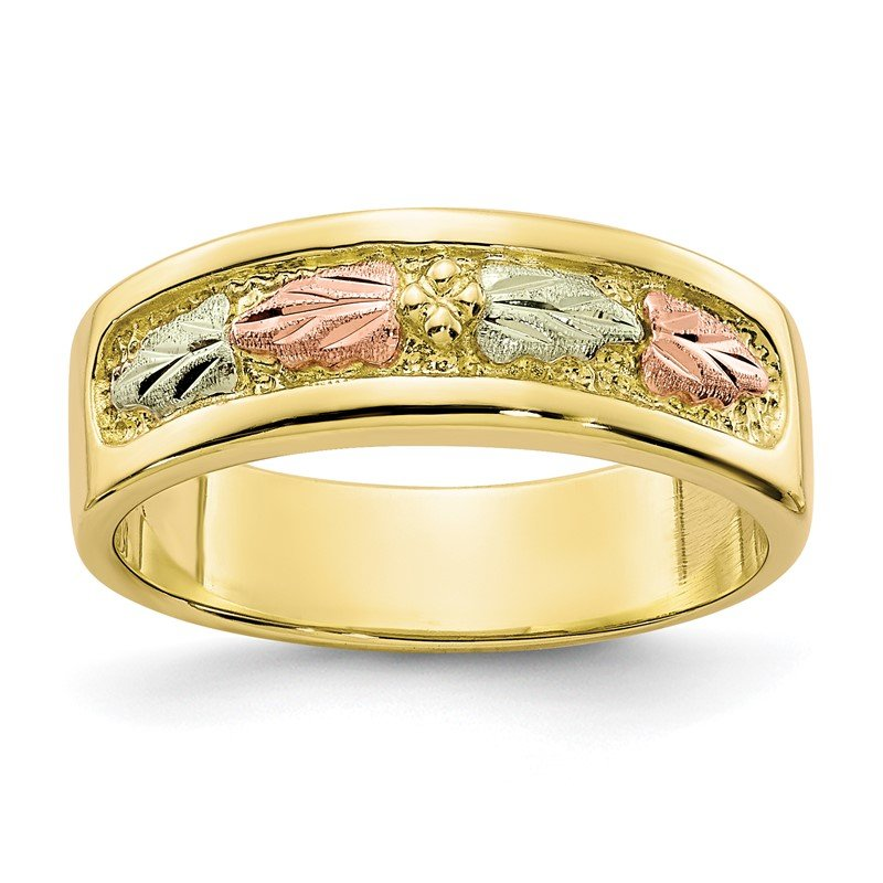 Quality Gold 10k Tri-color Black Hills Gold Ring
